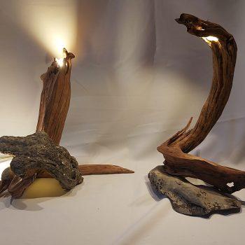 Ilargi eta Kobazulo lámparas para mesita de noche